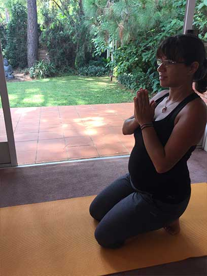 pregnancy yoga pose 2
